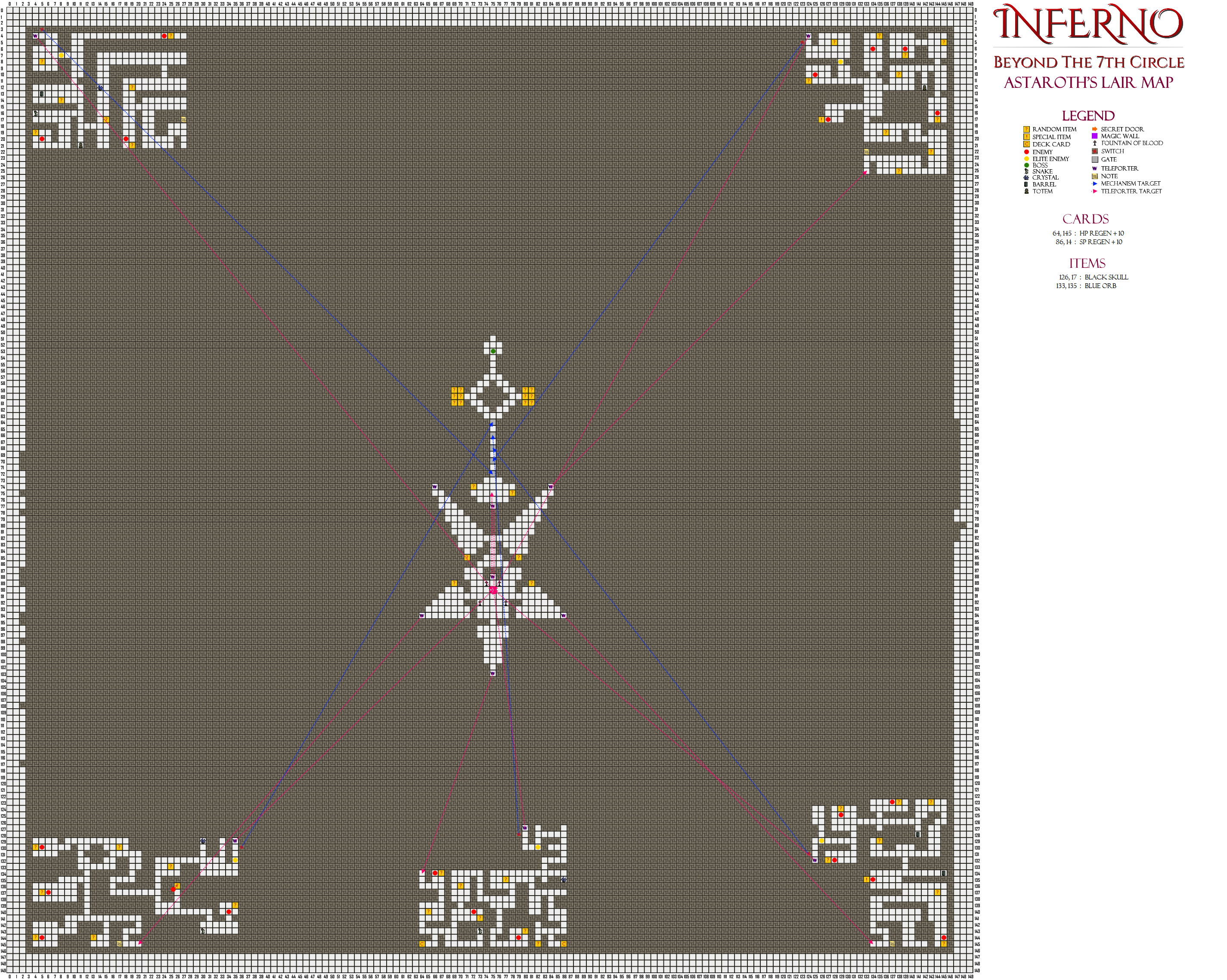Inferno - Beyond the 7th Circle - A Walkthrough and Playthrough - Beginners Gameplay Guide - Maps - 2C64E0A