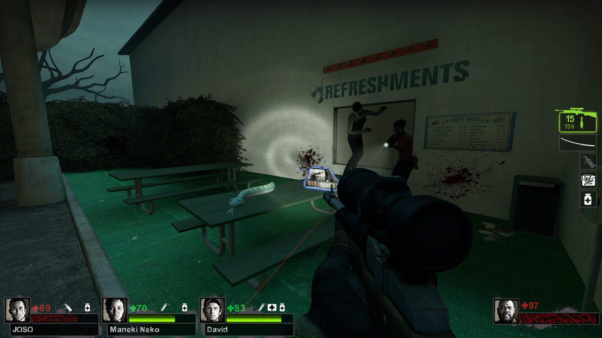 Left 4 Dead 2 - Detailed Guide for All Laser Sight Locations in Game - Map Guide - Potential spots, L4D2 maps - 4A36A81
