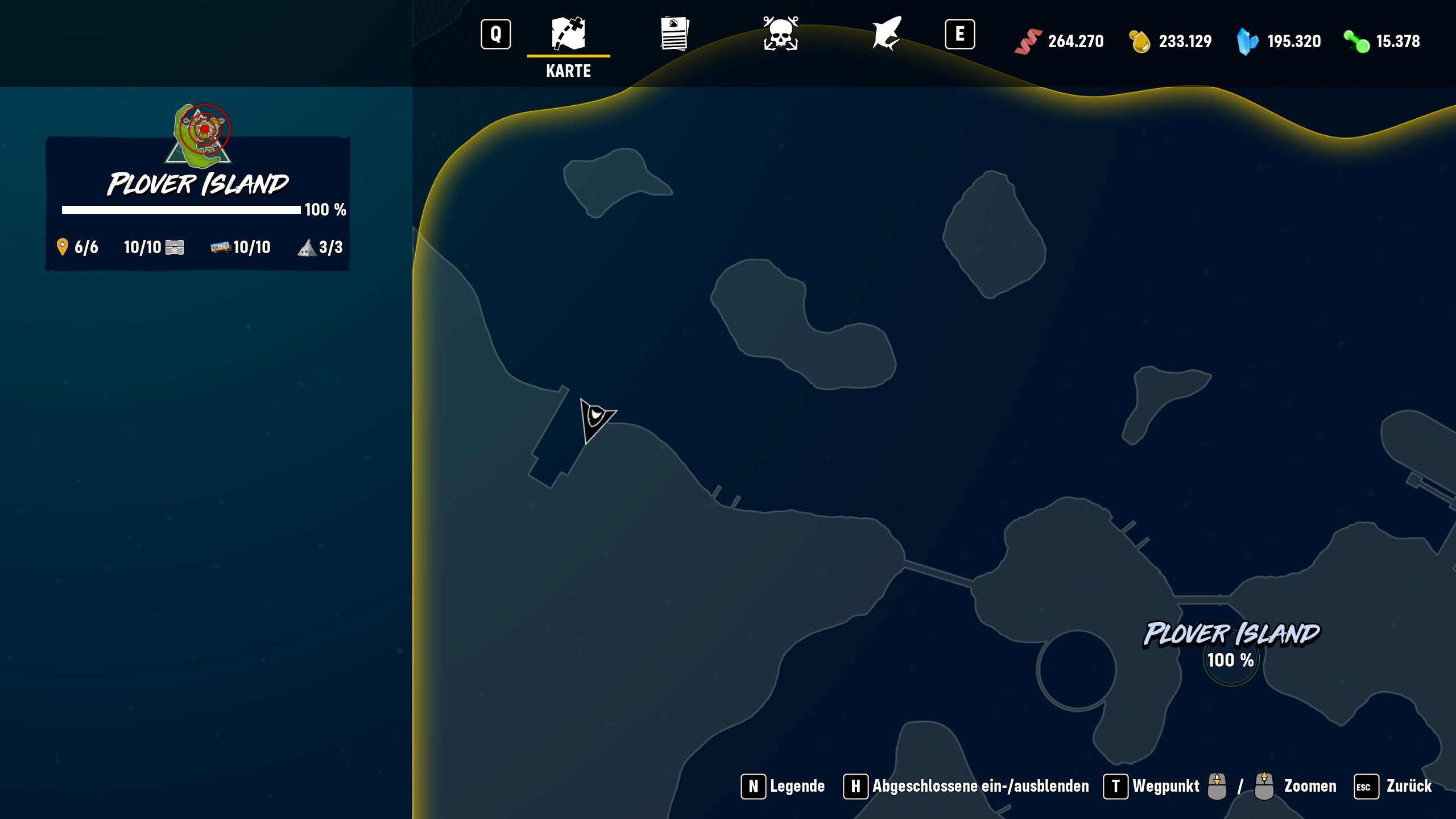 Maneater - Questers Map Locations Guide - Plover Island (Dlc) - BD77B98