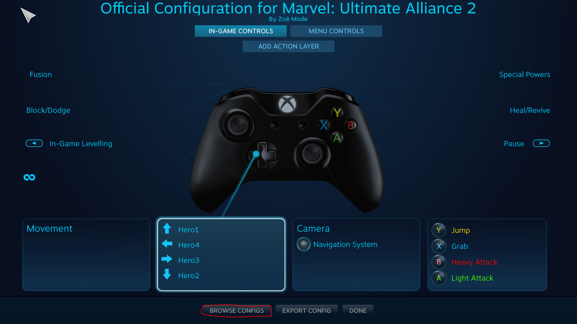 Marvel: Ultimate Alliance 2 - How to Fix XBOX Controller Tutorial - Step 1 - Big Picture Configuration (Just in case) - 3559ED6