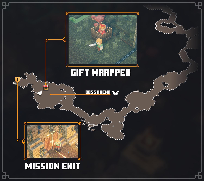 Minecraft Dungeons - Minecraft Dungeons - All Merchant Map Locations Tips + Walkthrough - Gift Wrapper - Soggy Swamp - 83D85D4