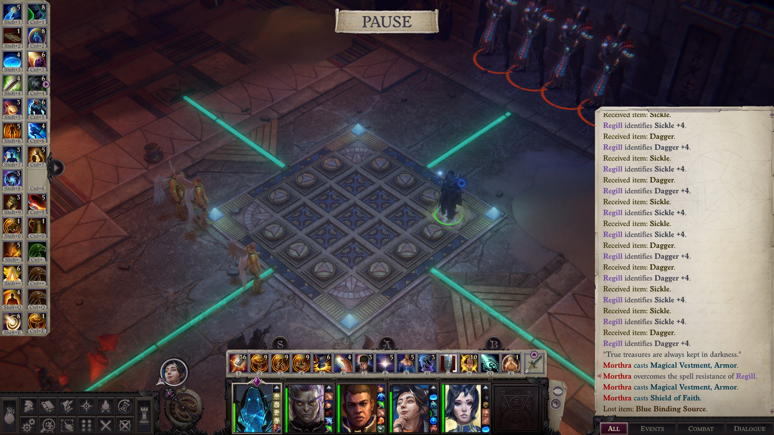 Pathfinder: Wrath of the Righteous - Puzzle Solution Tips for Enigma - Playthrough - Puzzle 2: Arrows - 41D2CEE