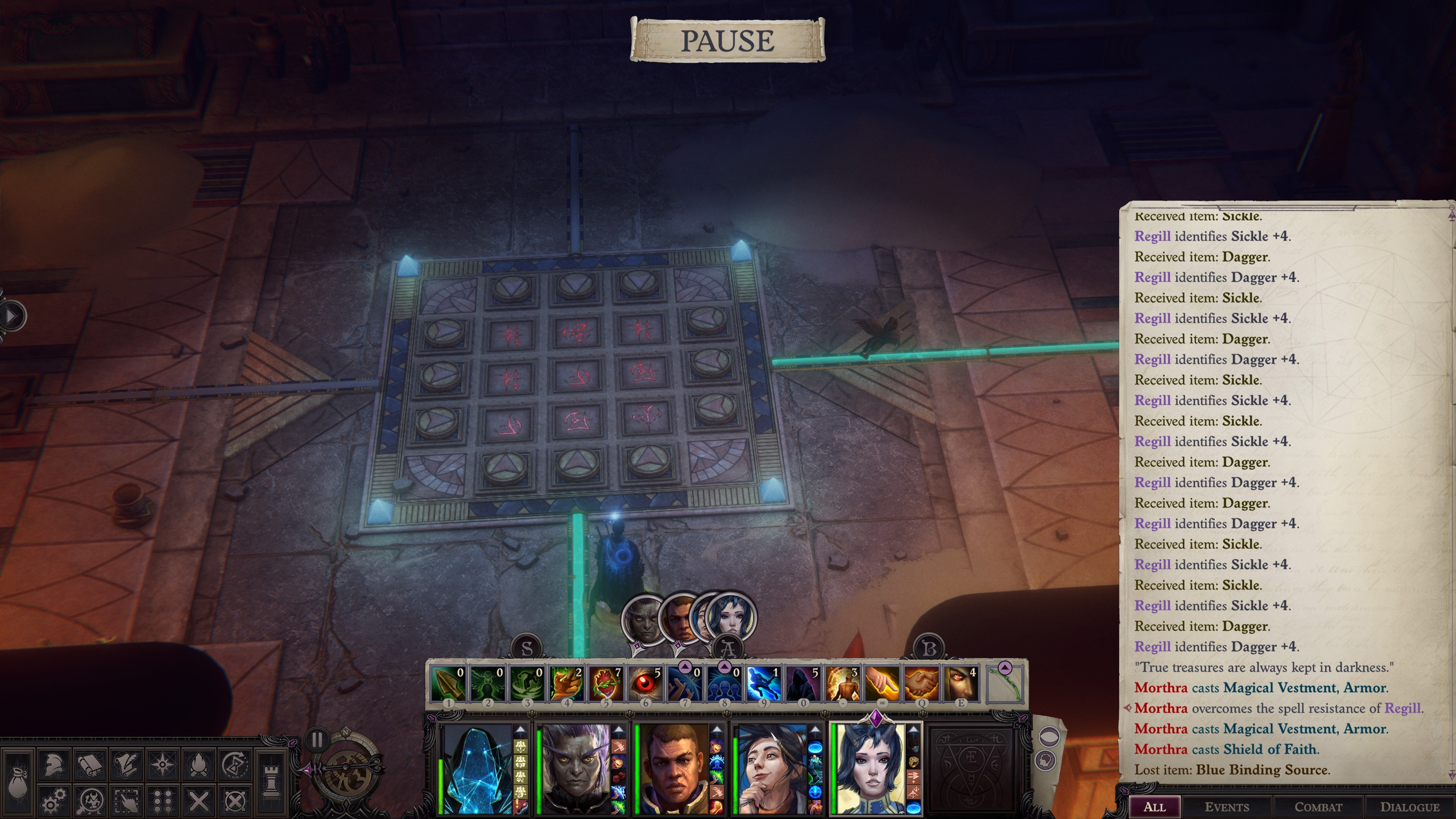 Pathfinder: Wrath of the Righteous - Puzzle Solution Tips for Enigma - Playthrough - Puzzle 2: Arrows - 6BB052F