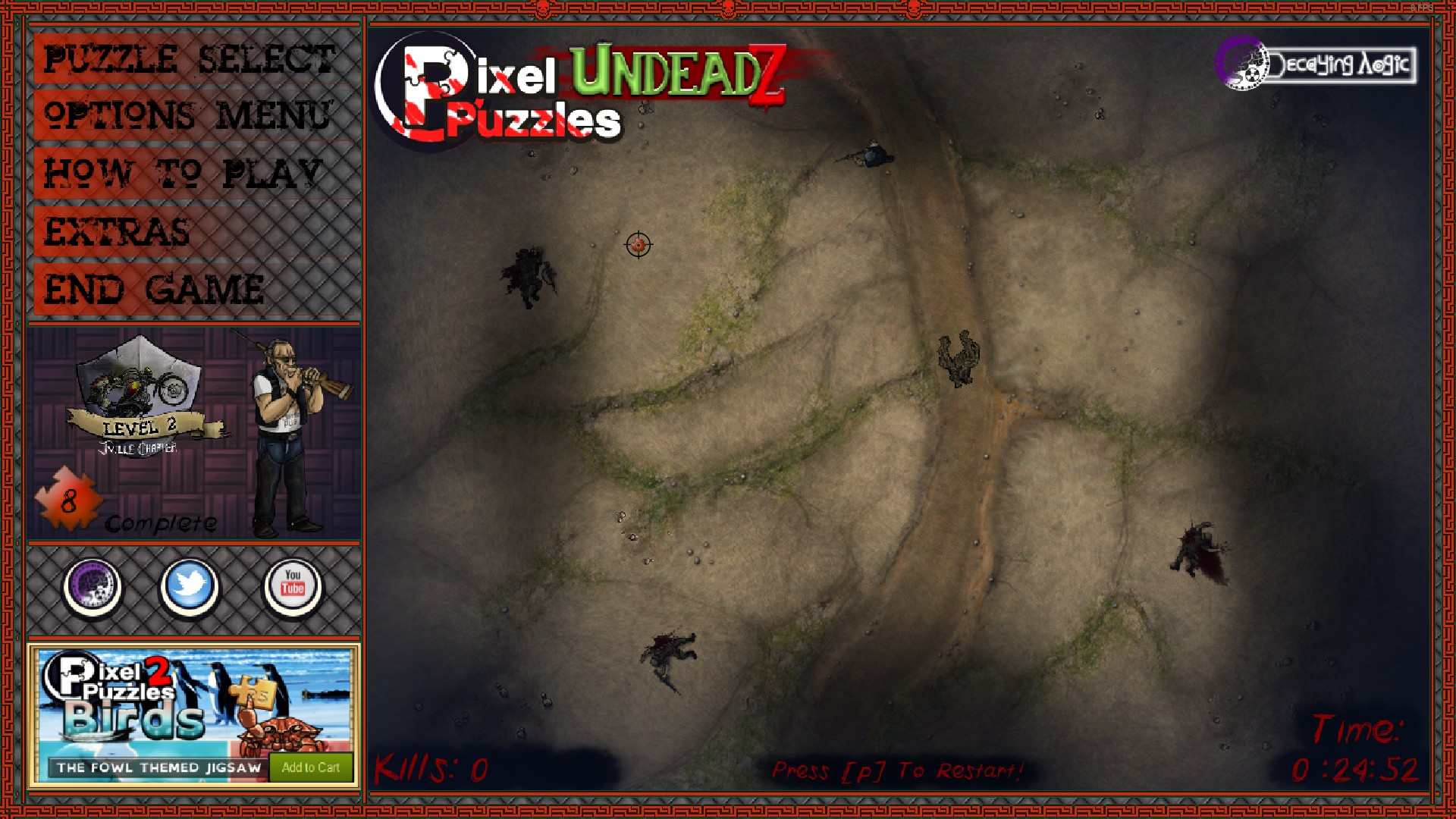 Pixel Puzzles: UndeadZ - How to Unlock 60 Min Madness Achievement Guide - Making it easy-part - 8467879