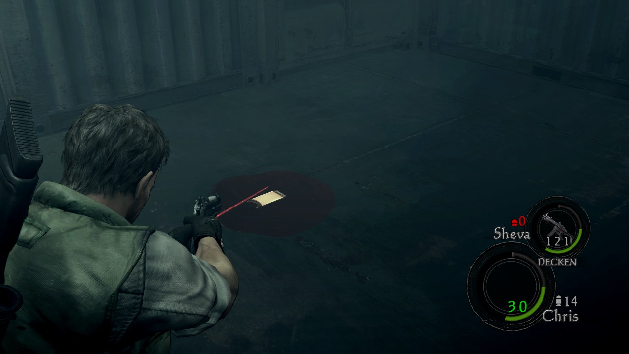 Resident Evil 5 - How to Add Laser Sight for Aiming in Game - End of the guide and credits. - 4B8189D