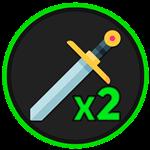 Roblox Anime Fighting Simulator - Shop Item [50% OFF] x2 Sword Skill