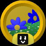 Roblox Bee Swarm Simulator - Badge Blue Flower Ace