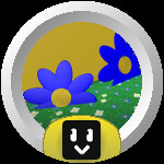 Roblox Bee Swarm Simulator - Badge Blue Flower Hotshot