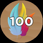Roblox Wing Simulator - Badge 100 Feathers
