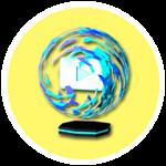 Roblox YouTube Simulator - Badge Blue Flame Plaque