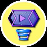 Roblox YouTube Simulator - Badge Galactic Plaque