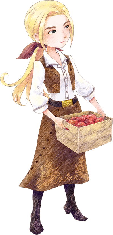 STORY OF SEASONS: Pioneers of Olive Town - List of All Characters & Gifts in Game - Cheat Sheets - Angela - CBDBC19