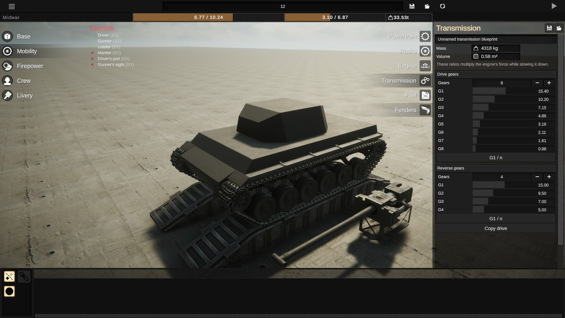Sprocket - Basic Troubleshooting Steps + Tank Mobility - Mobility Part 2 Gearbox Boogaloo - E1B3215