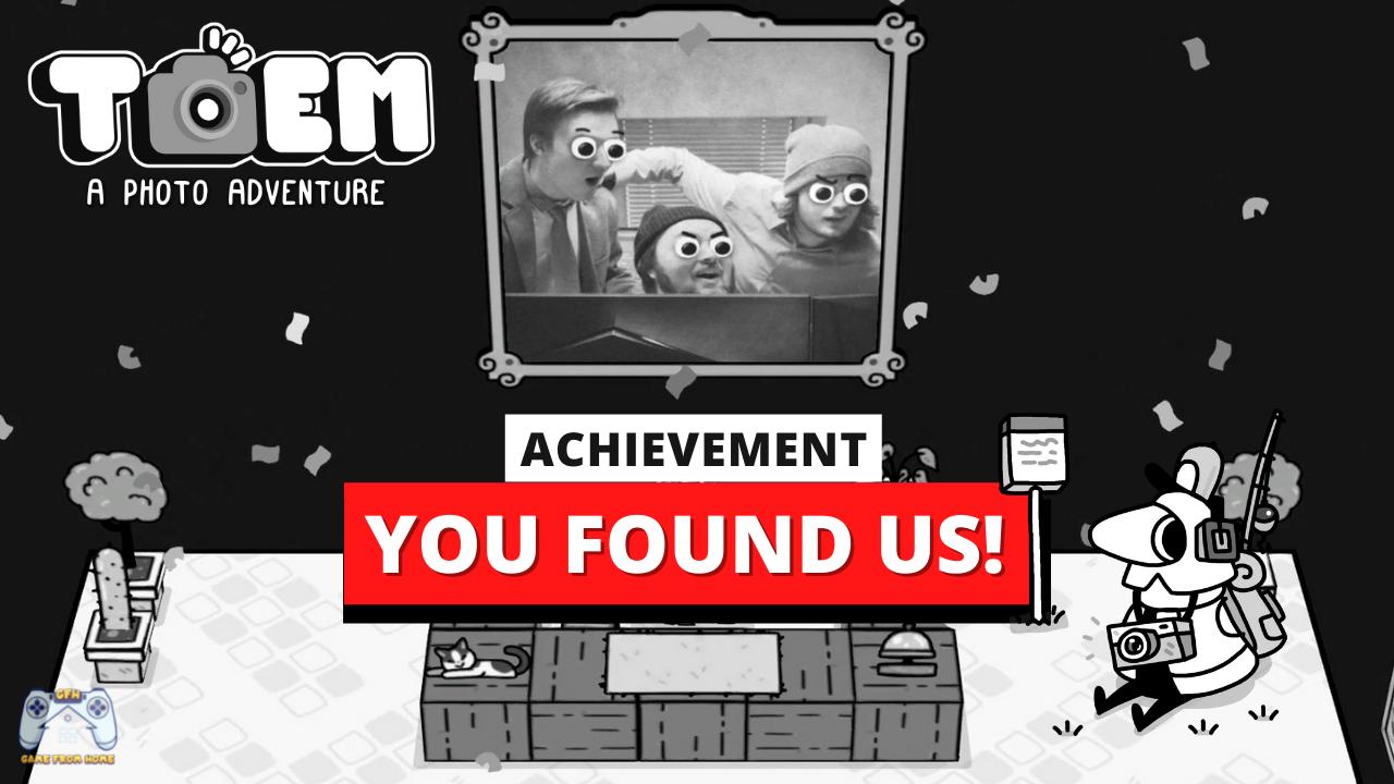 TOEM - Walkthrough Gameplay + Video Tutorial for Beginners - TOEM - You Found Us! - Achievement/Trophy - A0AC8DC
