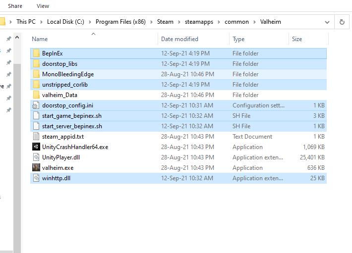 Valheim - Installing Mod in Valheim Tutorial Guide - Installing BepInExPack - 47172D1
