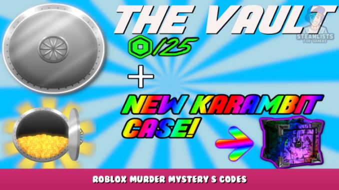 Roblox – Murder Mystery S Codes (September 2021) 1 - steamlists.com