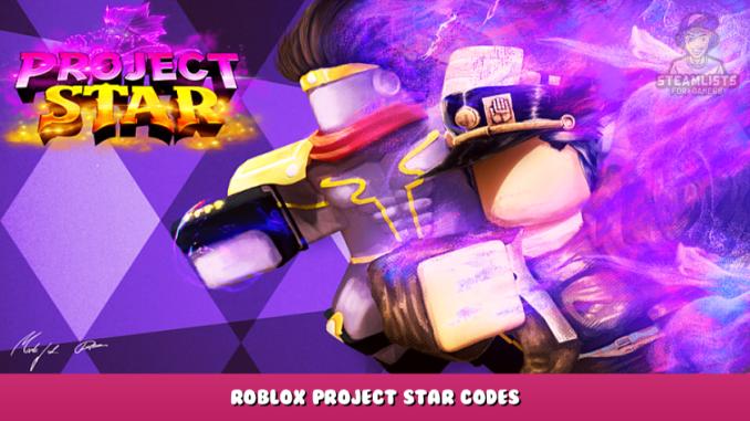 Roblox – Project Star Codes (September 2021) 16 - steamlists.com