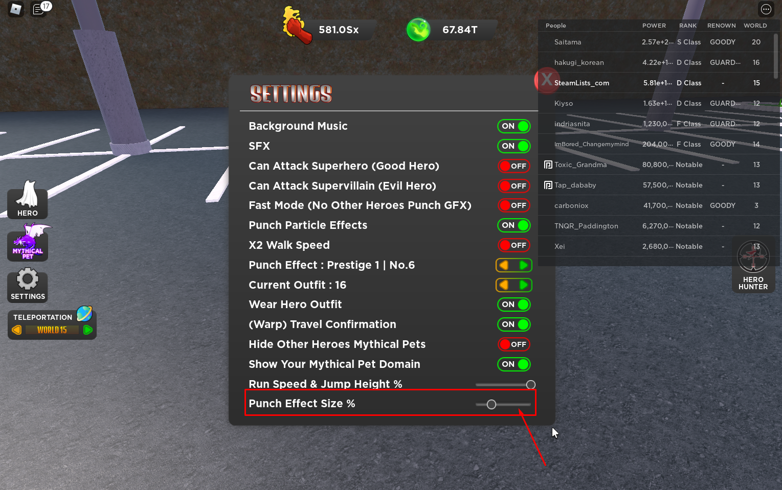 Roblox – Strongest Punch Simulator Glitch grow faster in Power 3 - steamlists.com