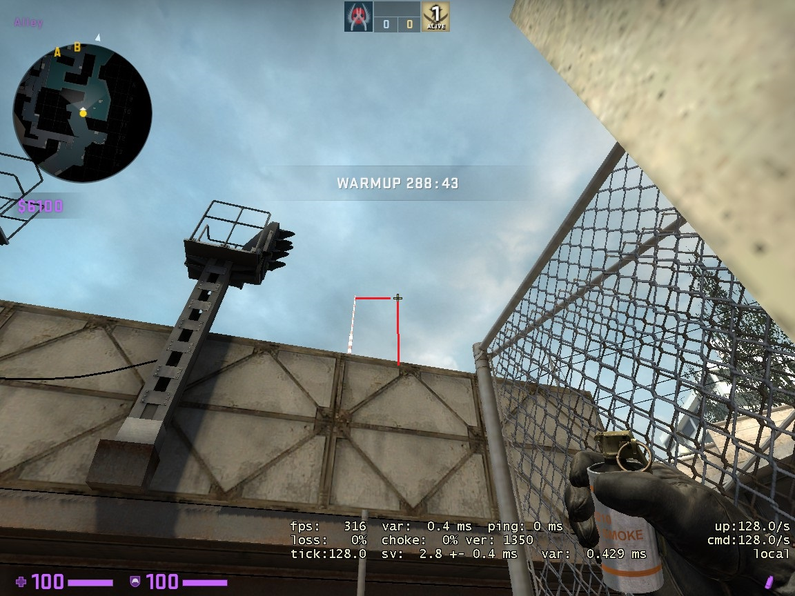 Counter-Strike: Global Offensive - CSGO Overpass Smoke Pattern - FROM ALLEY TO B SITE - 052410E