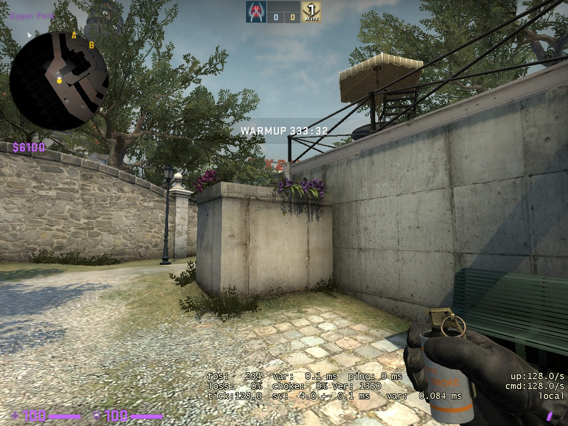 Counter-Strike: Global Offensive - CSGO Overpass Smoke Pattern - FROM LONG TO A SITE - 861F263
