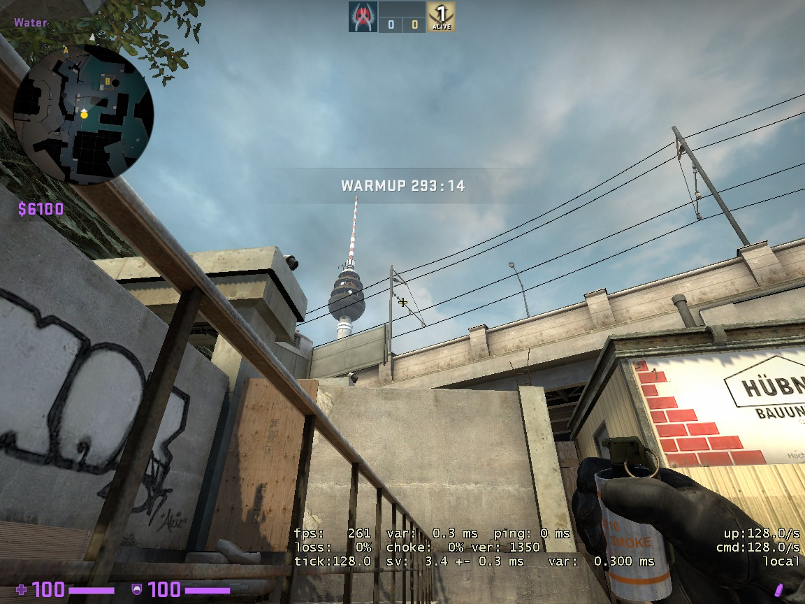 Counter-Strike: Global Offensive - CSGO Overpass Smoke Pattern - FROM SHORT TO HEAVEN - 170F58C