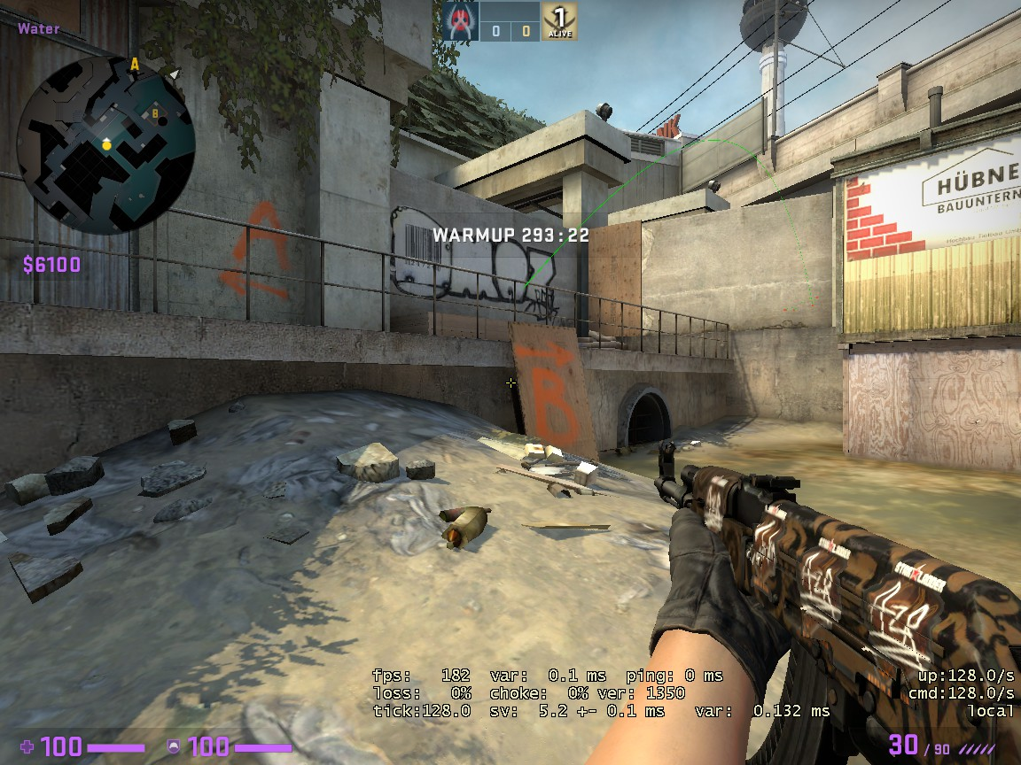 Counter-Strike: Global Offensive - CSGO Overpass Smoke Pattern - FROM SHORT TO HEAVEN - 7672680