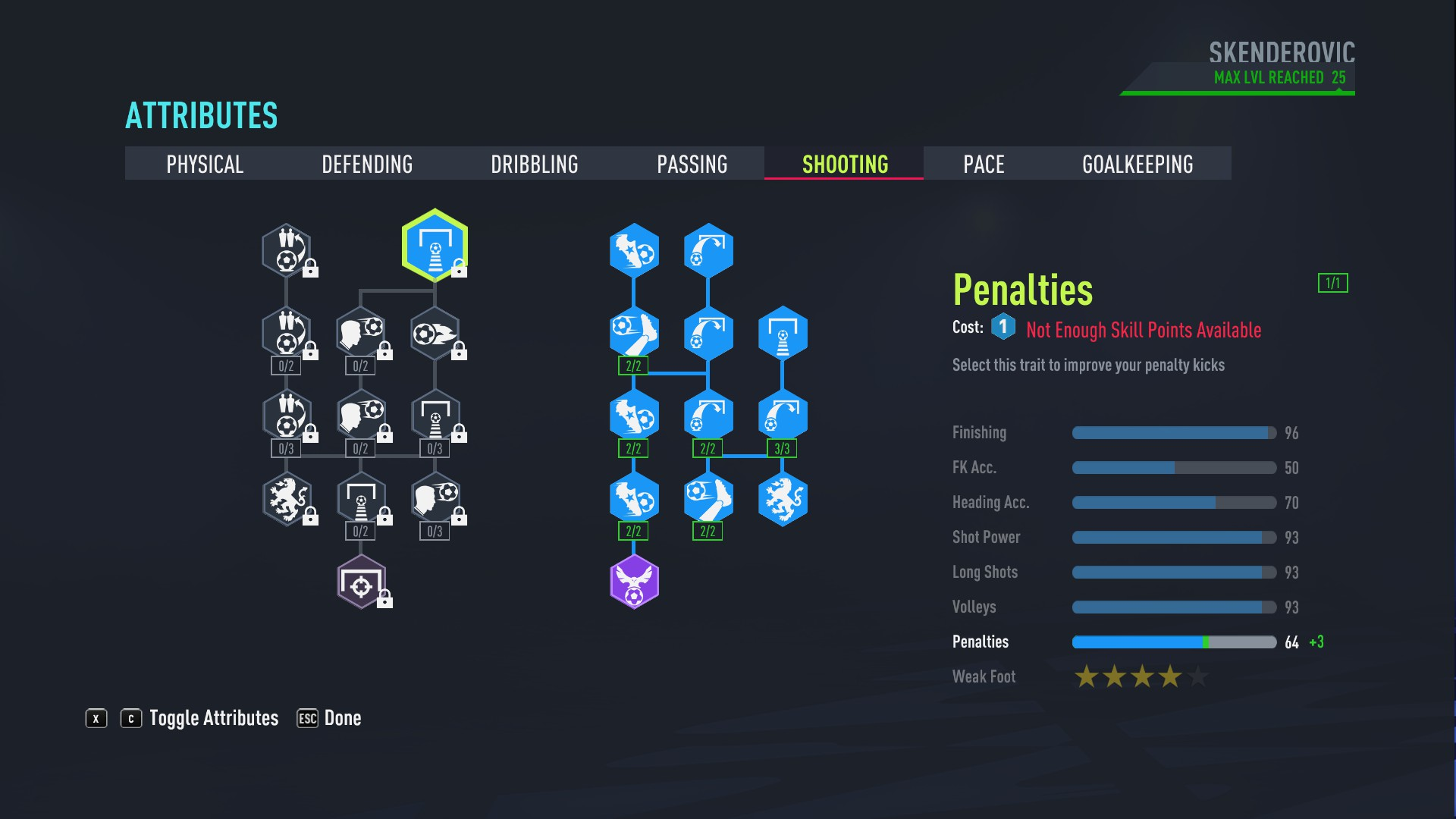 FIFA 22 - How to Reach 90 Rating in Fifa 22 Player Career Mode as a Striker Tips - Skill Points (Shooting) - ECDD44B