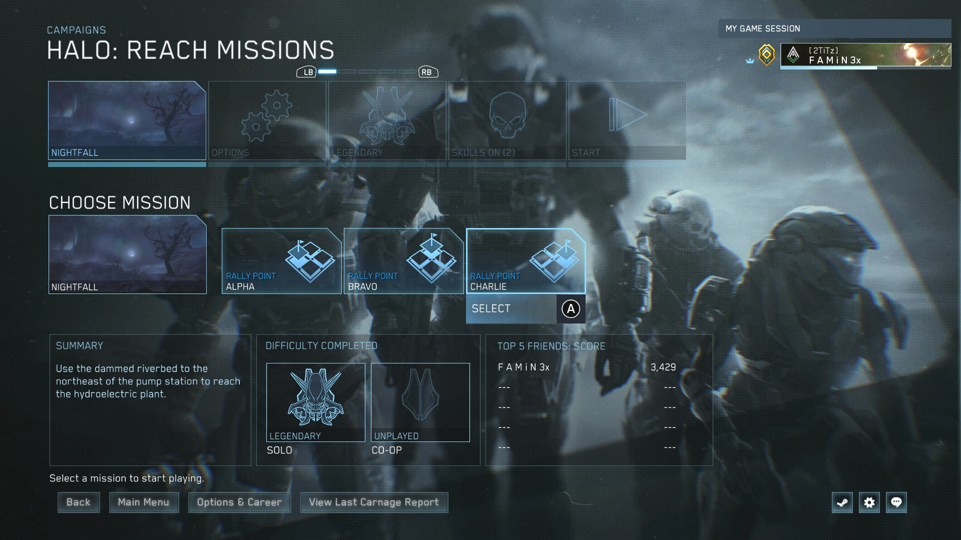 Halo: The Master Chief Collection - How to Unlock PVE Missions Easy Tips - Start Your Mission - 24B5BFC
