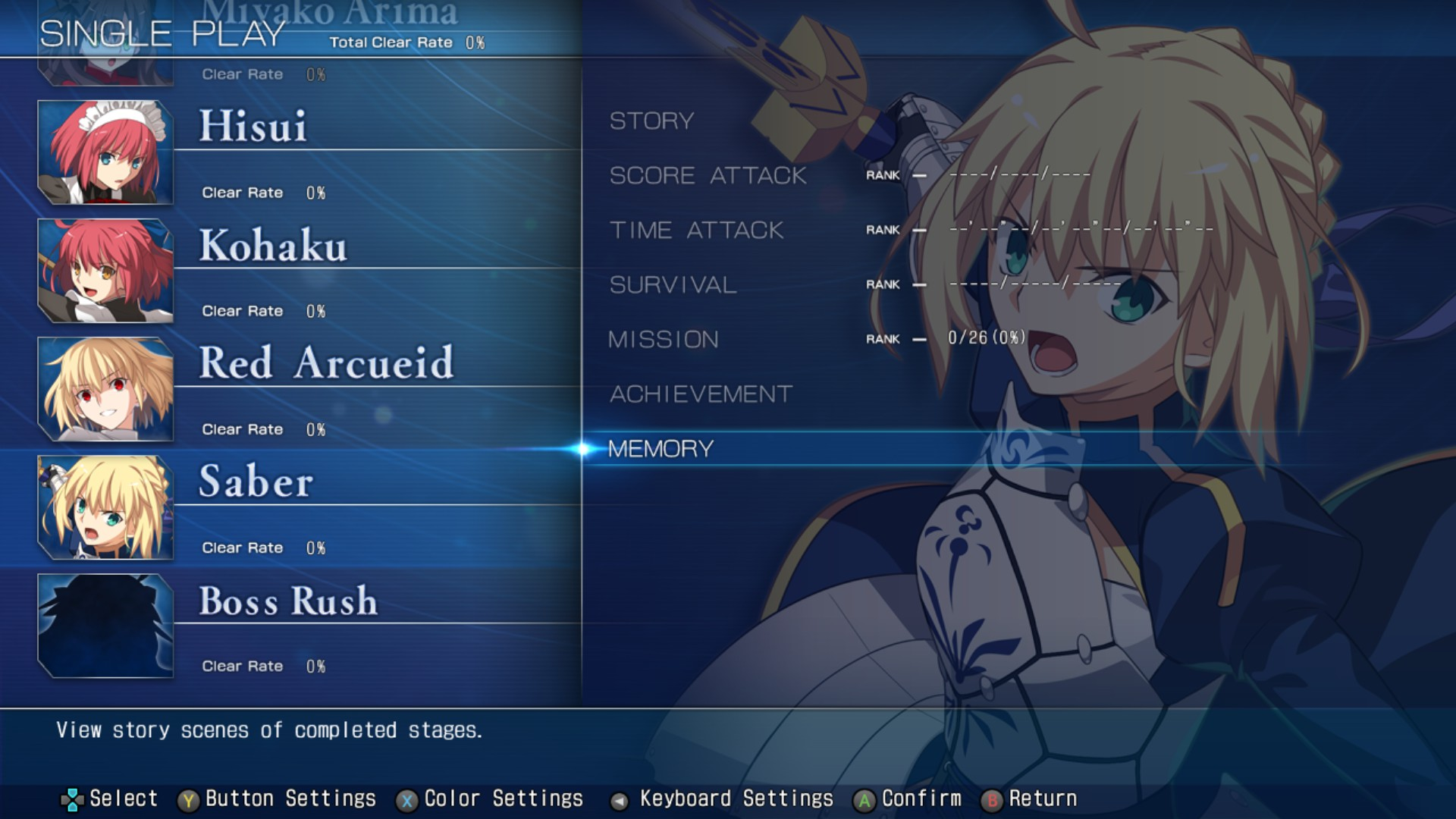 MELTY BLOOD: TYPE LUMINA - Complete All Achievements Guide - Single Play Mode - BD92882