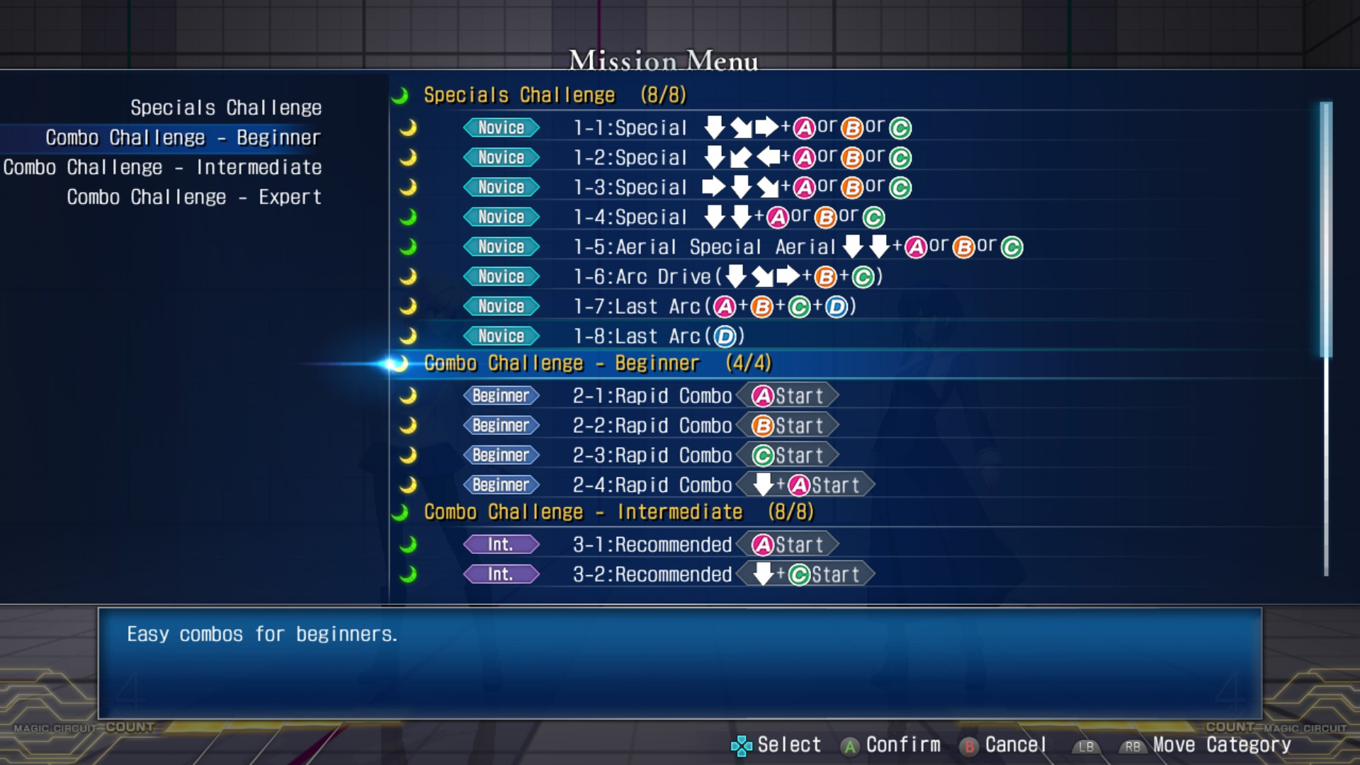 MELTY BLOOD: TYPE LUMINA - Complete All Achievements Guide - Training - EB1E37D