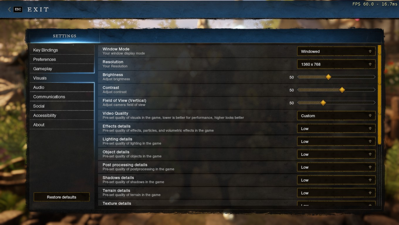 New World - Game Crash Fix in Game - Your Settings!! - 04AC0CC