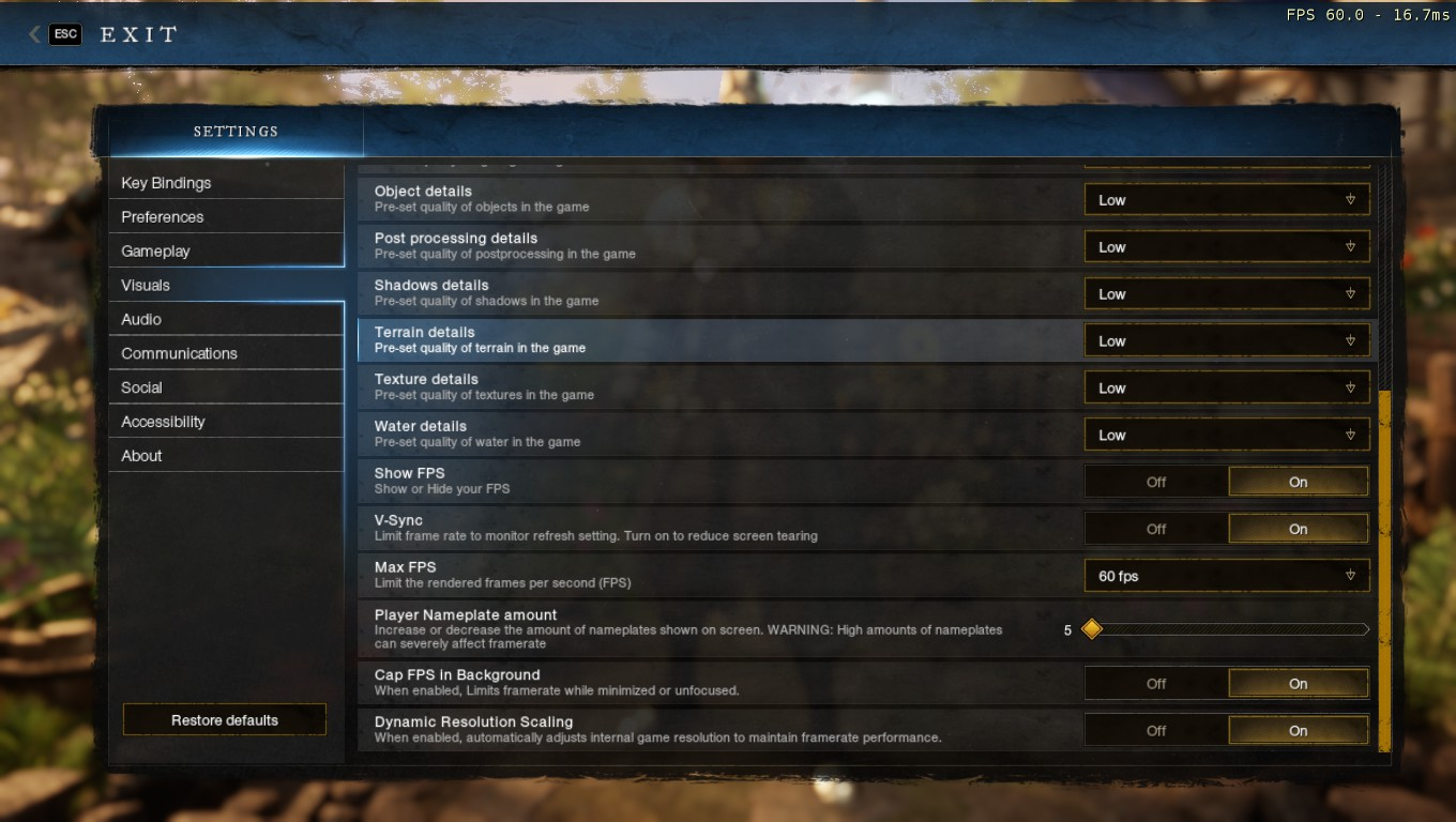 New World - Game Crash Fix in Game - Your Settings!! - C62D658