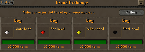 Old School RuneScape - How to Sell Items in Game - Collecting Beads from Imps - B3ED4FC