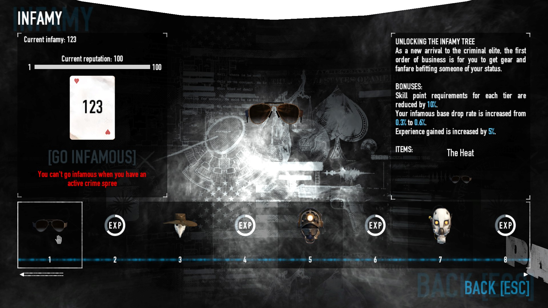 PAYDAY 2 - DSOD No DLC Build + Weapons Attachments & Class - Infamy Cost Reduction - 6EBD89D