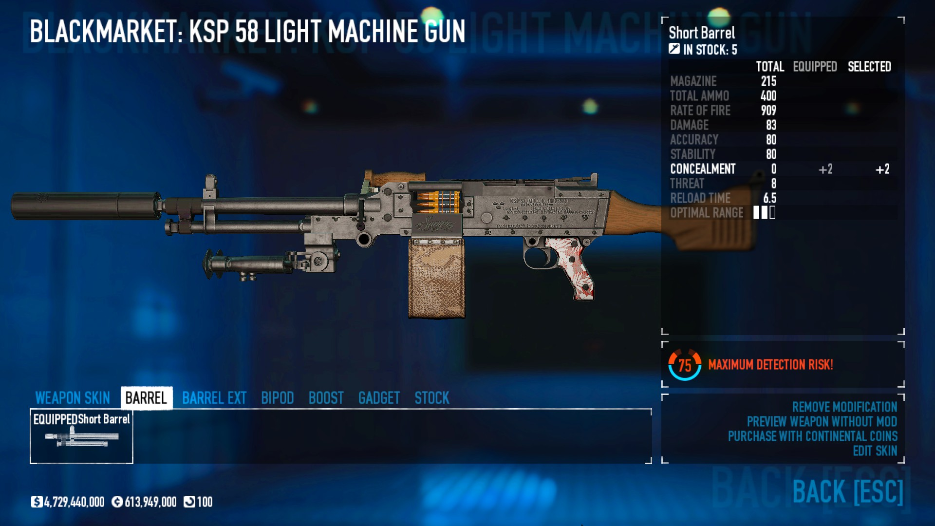 PAYDAY 2 - DSOD No DLC Build + Weapons Attachments & Class - Inventory and Weapons - B072D6D