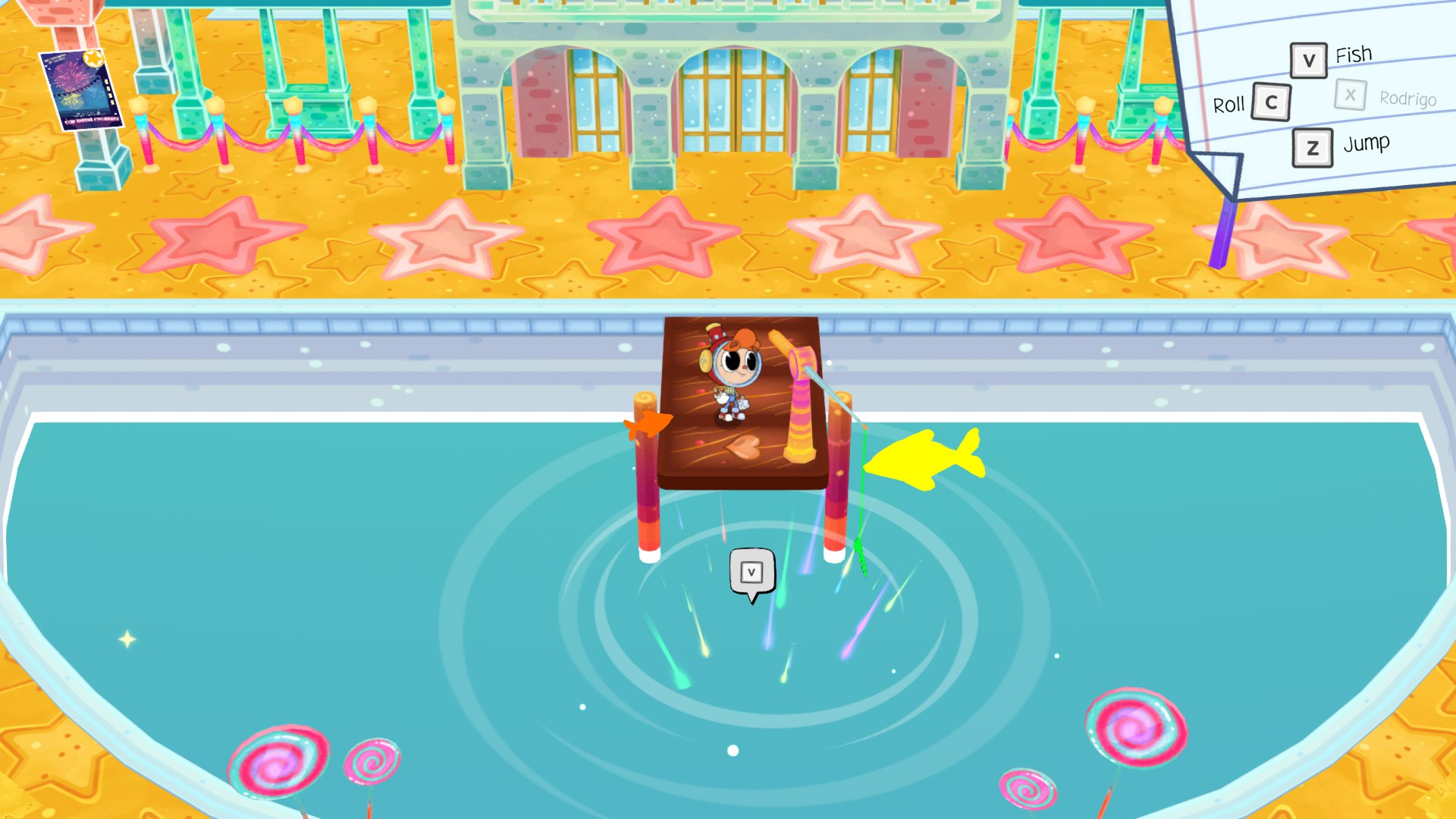 Rainbow Billy: The Curse of the Leviathan - How to Find 12 Rainbow Sparklers in Game Tips - Fishing Pond Sparklers - 31D4EB1