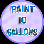 Roblox Paint Simulator - Badge Paint 10 Gallons - IMN-3f9a