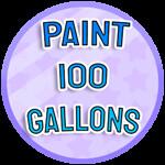 Roblox Paint Simulator - Badge Paint 100 Gallons - IMN-4371