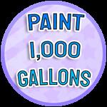 Roblox Paint Simulator - Badge Paint 1,000 Gallons - IMN-0657