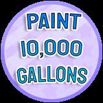 Roblox Paint Simulator - Badge Paint 10,000 Gallons - IMN-6e21