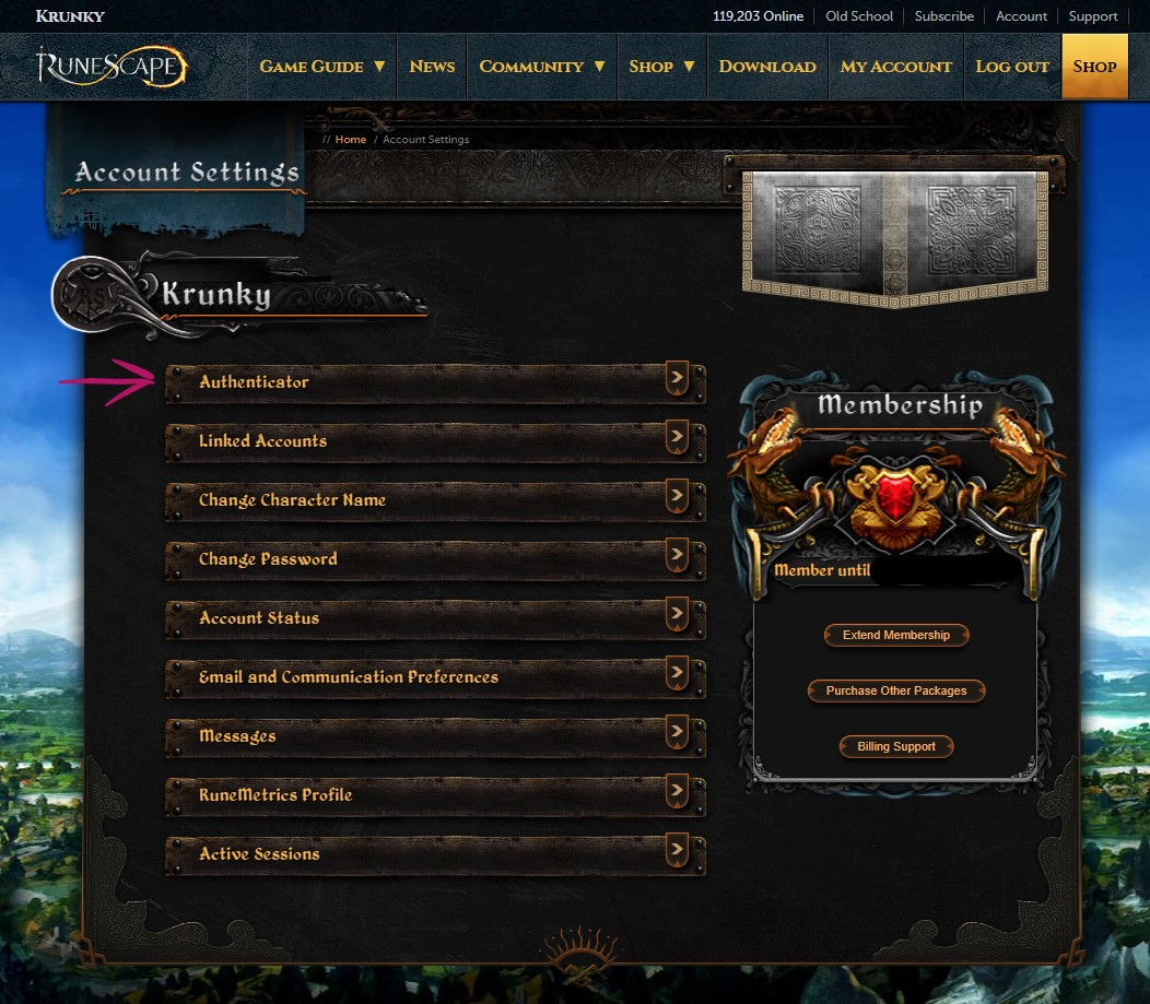 RuneScape - How to Protect Your Account from Hackers - 2. 2FA Authentication - 573A2C9
