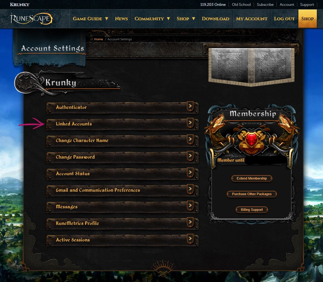 RuneScape - How to Protect Your Account from Hackers - 3. Setting up login with Google, Facebook, Apple, Steam,... - 590FF32