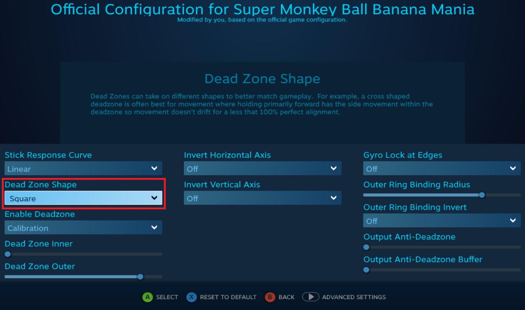 Super Monkey Ball Banana Mania - Game Config Visual Quality Settings - • The Controls - E0EB6E2