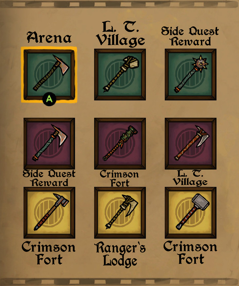 Tails of Iron - Full Guide for All Weapons and Armour Locations Playthrough - 1H Weapons - 886FB68