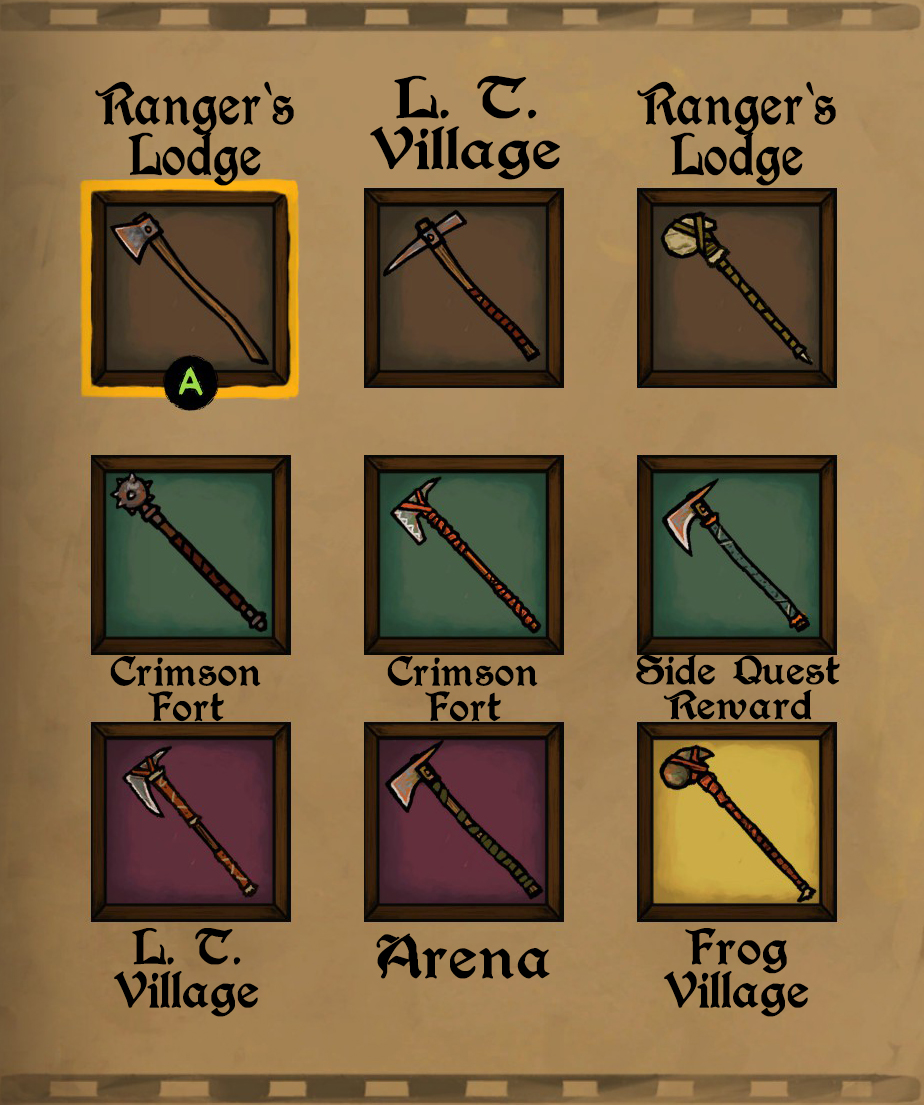 Tails of Iron - Full Guide for All Weapons and Armour Locations Playthrough - 2H Weapons - 7DD0E58