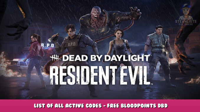 Dead by Daylight – List of All Active CODES – Free Bloodpoints DBD 1 - steamlists.com
