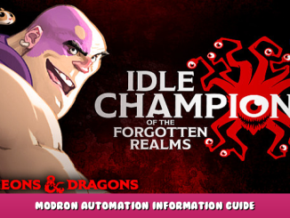 Idle Champions of the Forgotten Realms – Modron Automation Information Guide 1 - steamlists.com