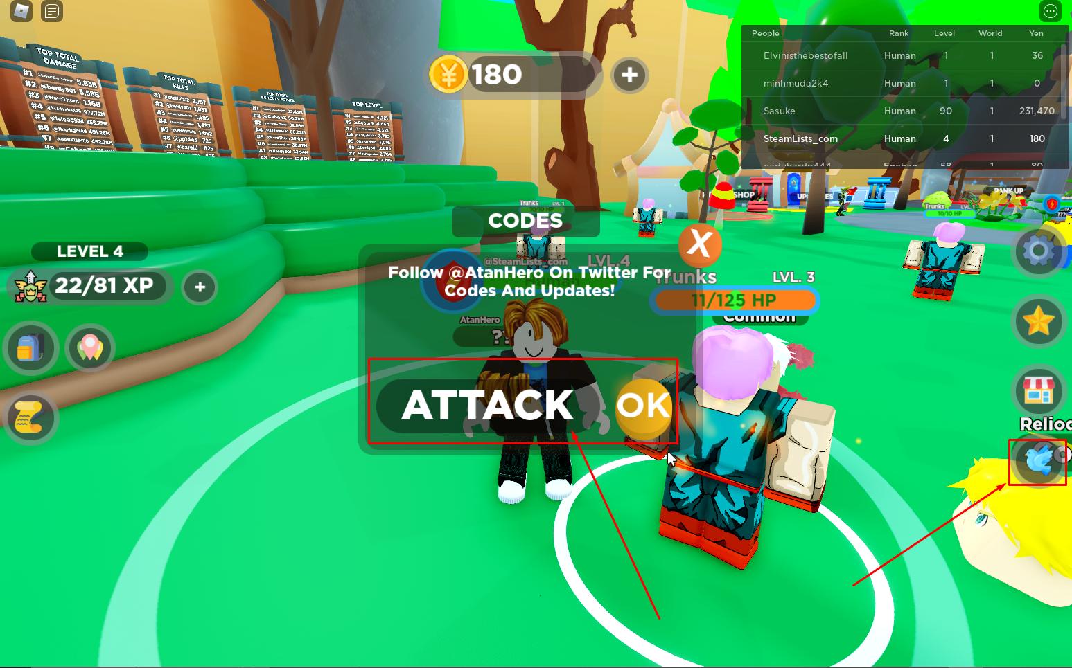 Roblox Anime Attack Simulator Codes