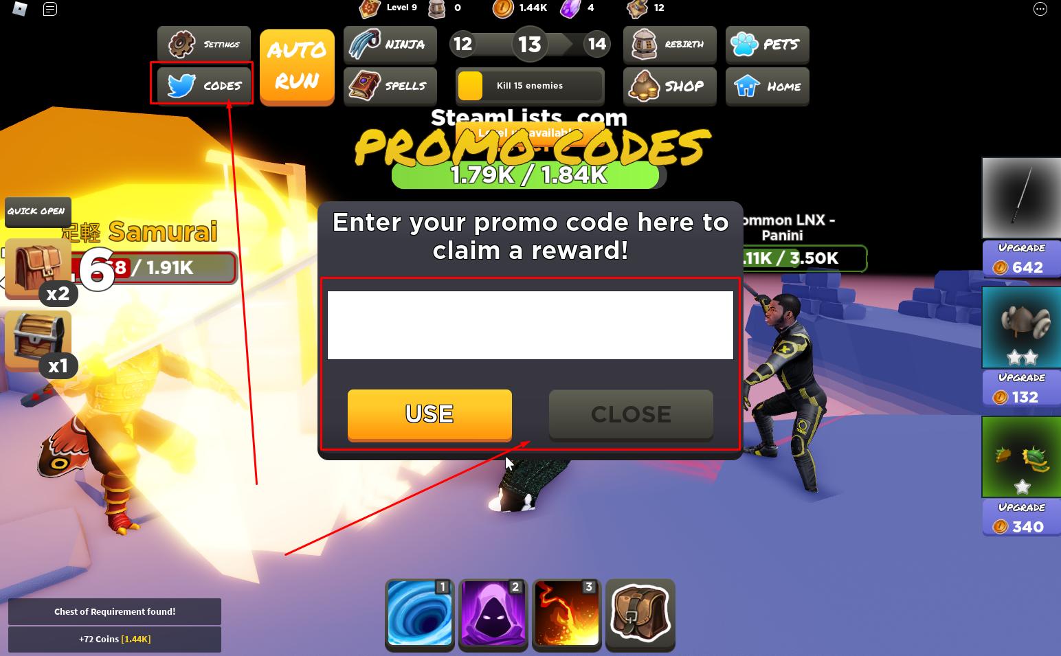 Roblox – Ninja Rush Codes (October 2021) 2 - steamlists.com