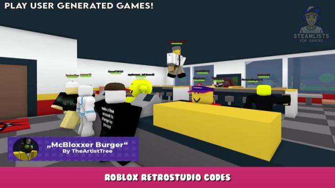 Roblox – RetroStudio Codes – Free Retrobux (October 2021) 9 - steamlists.com